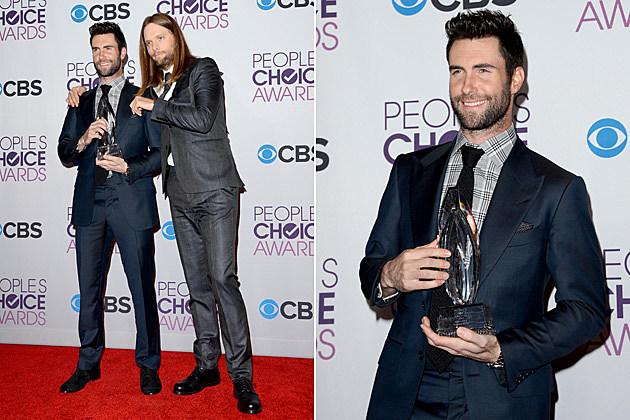 Maroon 5 Adam Levine 2013 Peoples Choice Awards