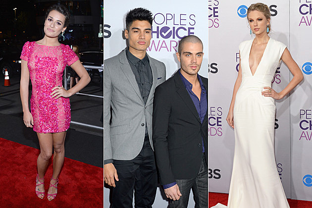 Lea Michele Siva Kaneswaran Taylor Swift 2013 Peoples Choice Awards