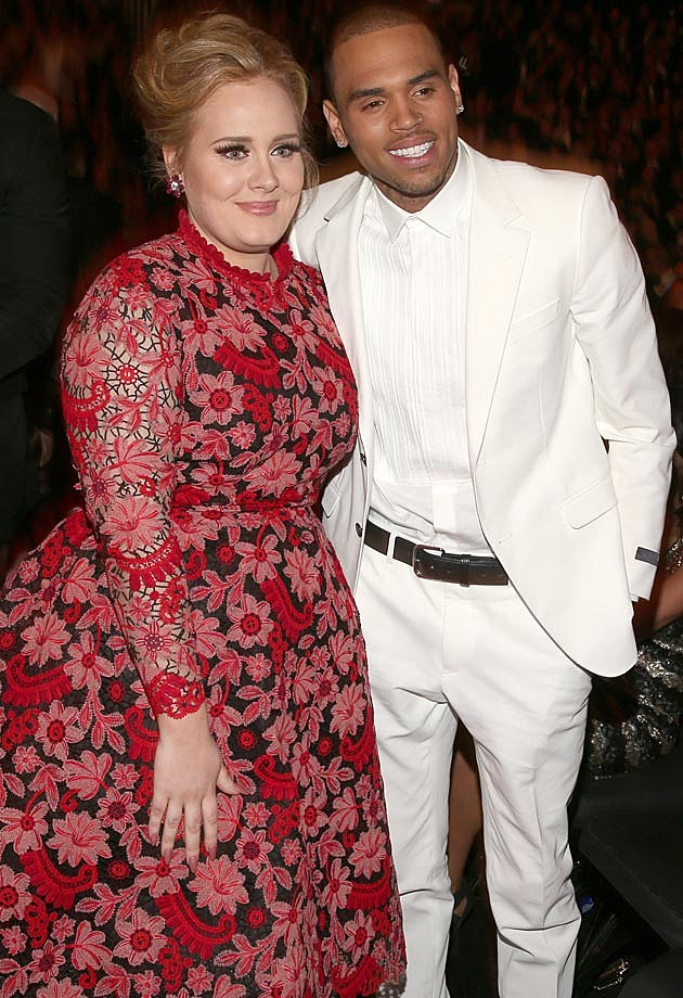 Adele Chris Brown Grammys