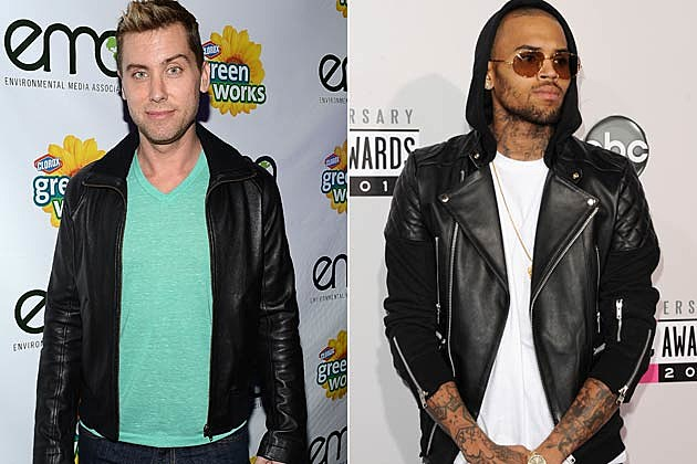 Lance Bass Chris Brown