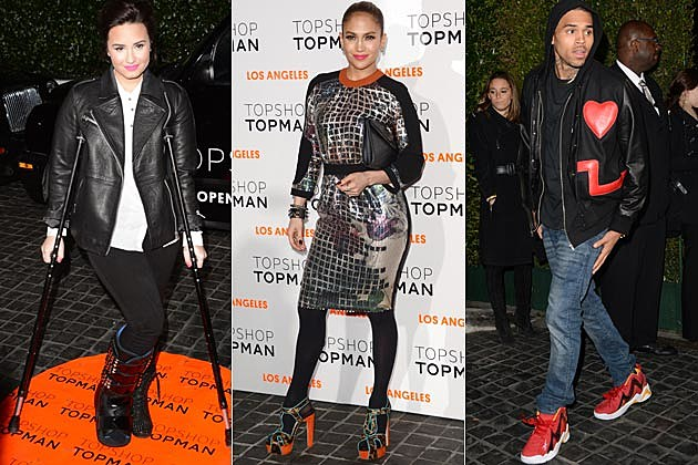 Demi Lovato Jennifer Lopez Chris Brown Topshop Topman