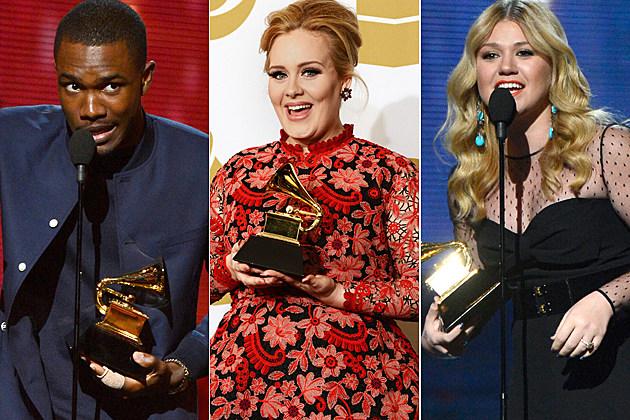 Grammy Winners Frank Ocean Adele Kelly Clarkson