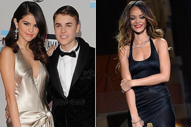 Justin Bieber Selena Gomez Rihanna