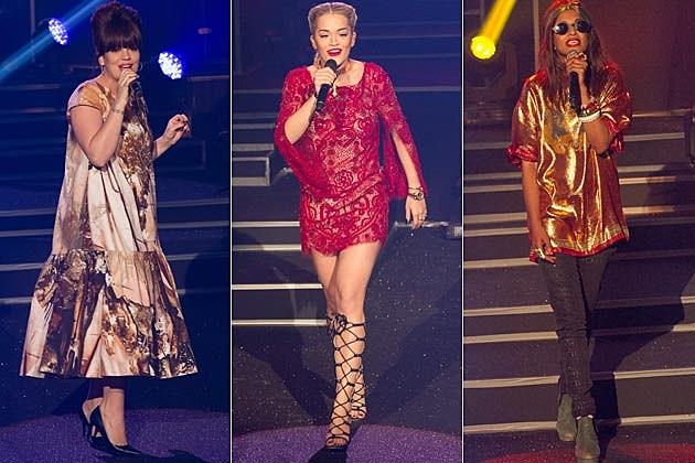 Lily Allen Rita Ora MIA Etam Paris Fashion Show