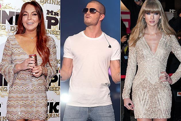 Lindsay Lohan Max George Taylor Swift