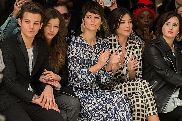 Louis Tomlinson Demi Lovato Topshop London Fashion Week
