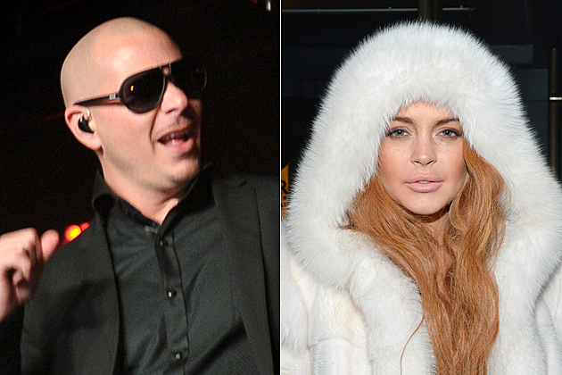 Pitbull and Lindsay Lohan