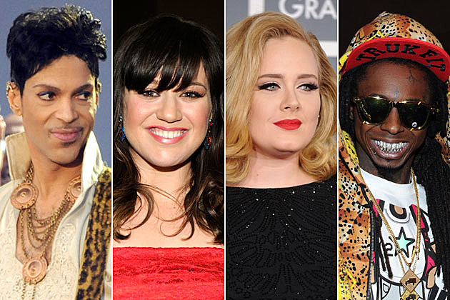 Prince Kelly Clarkson Adele Lil Wayne
