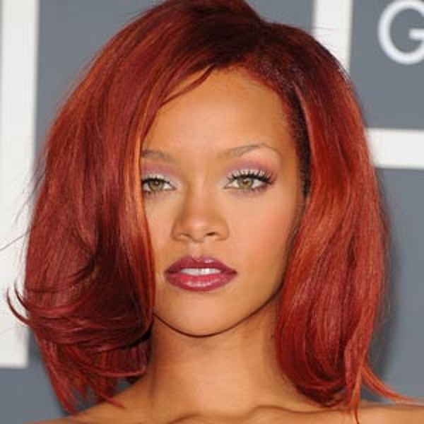 the red crimson bob � best rihanna hairstyles