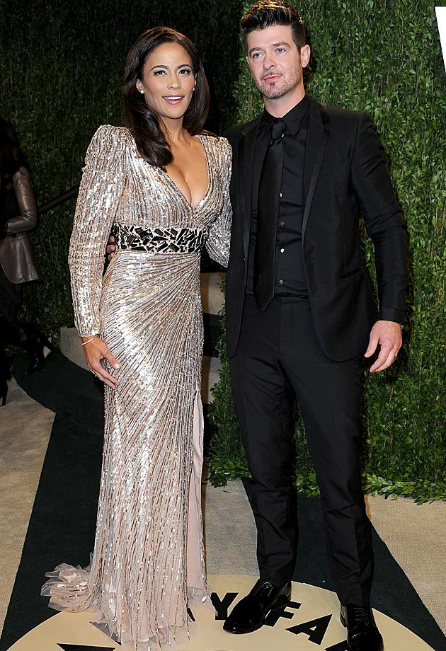 Robin Thicke Paul Patton 2013 Vanity Fair Oscar Party