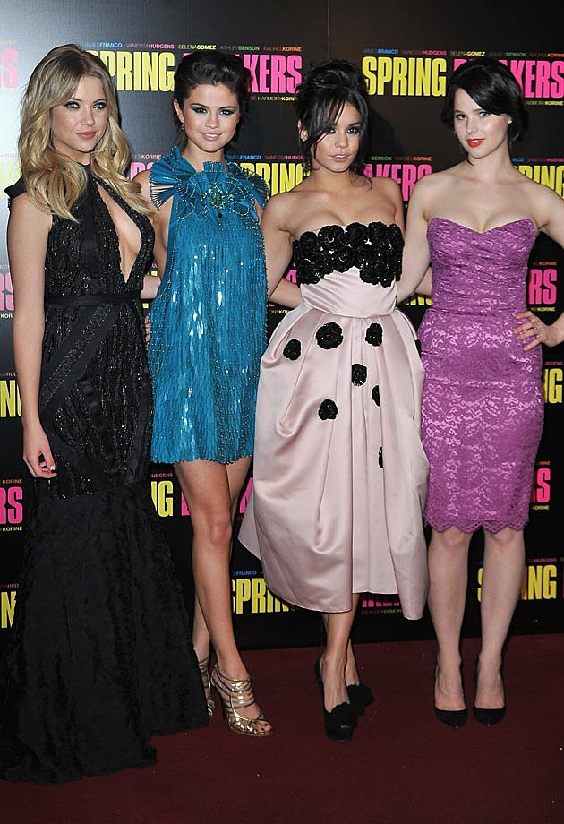 Spring Breakers Paris Premiere Cast