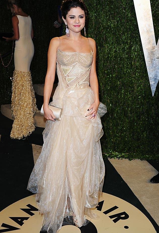 Selena Gomez Atelier Versace 2013 Vanity Fair Oscar Party