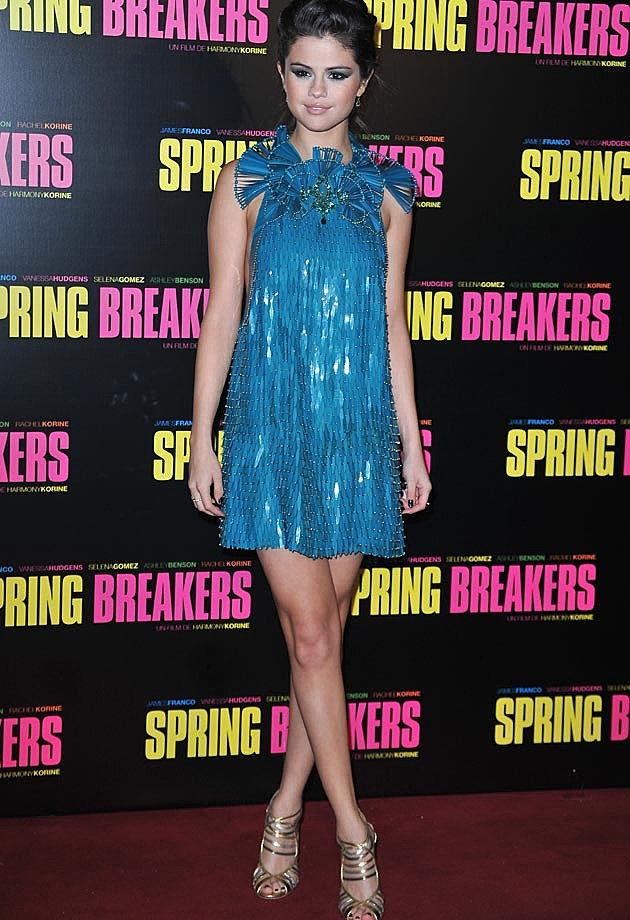 Selena Gomez Gucci Spring Breaks Premiere Paris