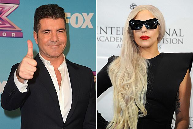 Simon Cowell Lady Gaga