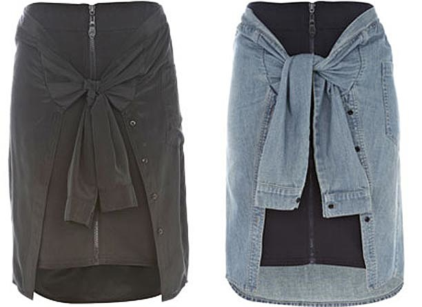 Rihanna Skirt Shirt River Island