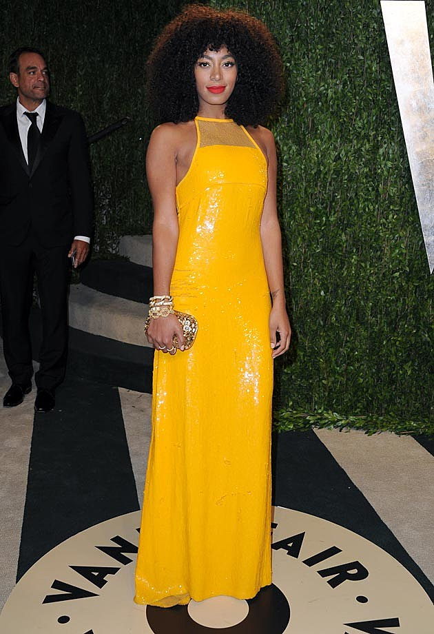 Solange Emilio Pucci 2013 Vanity Fair Oscar Party