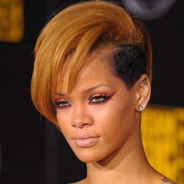 Rihanna Shaved Side Hairstyles