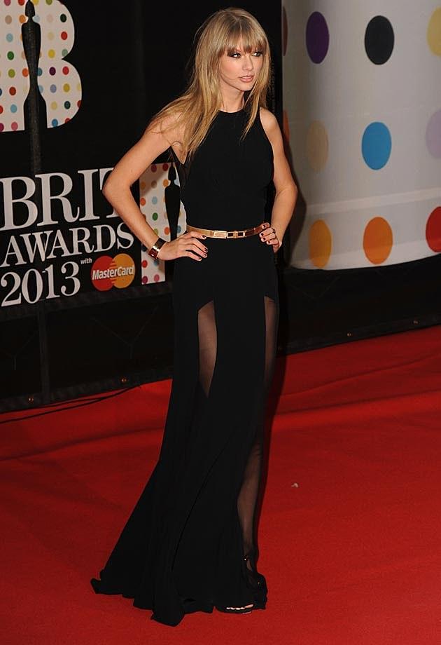 Taylor Swift Elie Saab 2013 BRITs