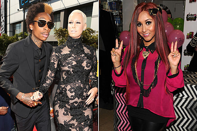 Wiz Khalifa, Amber Rose, and Snooki