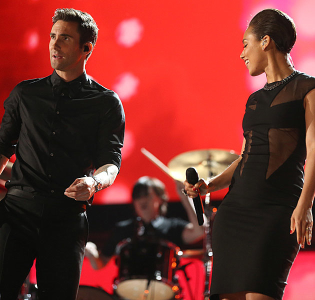 Adam Levine Alicia Keys