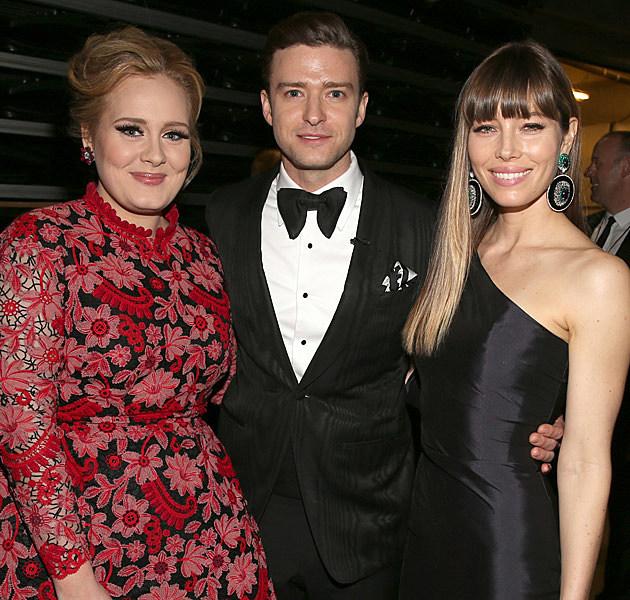 Adele Justin Timberlake Jessica Biel