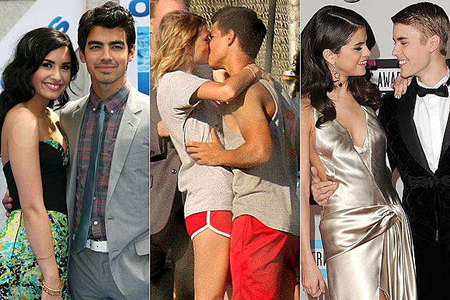 Demi Lovato Joe Jonas Taylor Swift Taylor Lautner Selena Gomez Justin Bieber