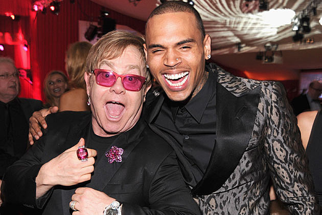 Elton John Chris Brown