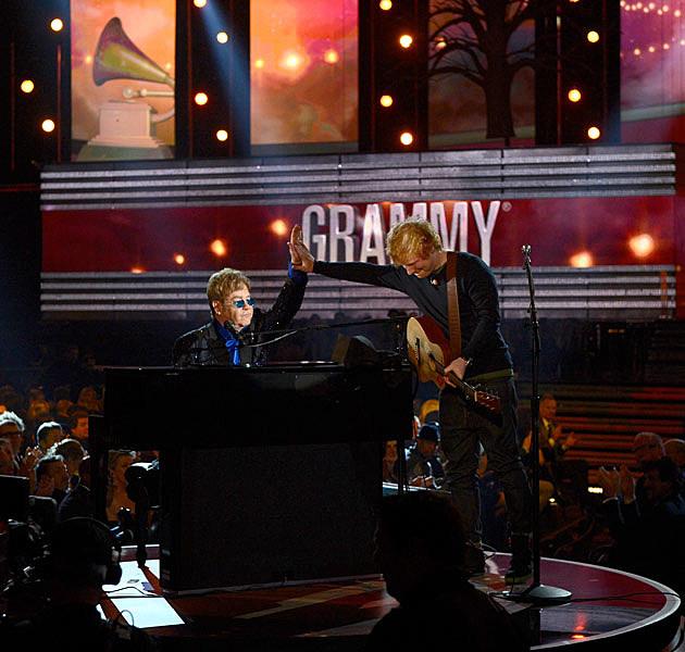 Ed Sheeran Elton John Grammys