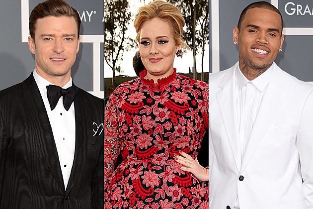 Justin Timberlake Adele Chris Brown