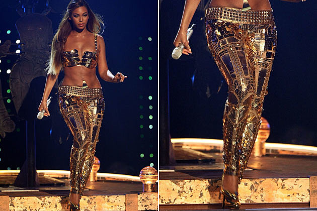 Beyonce Gold Leggings