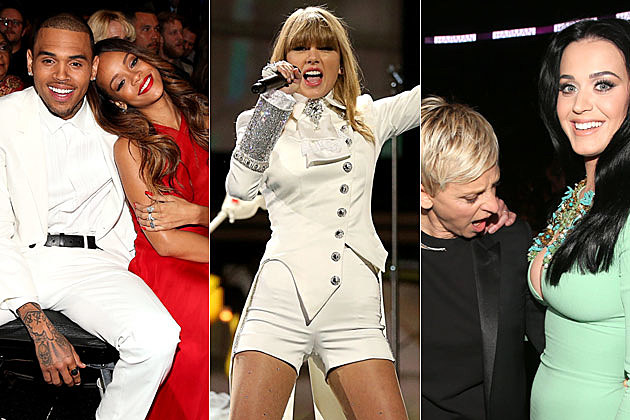 Chris Brown Rihanna Taylor Swift Ellen Degeneres Katy Perry