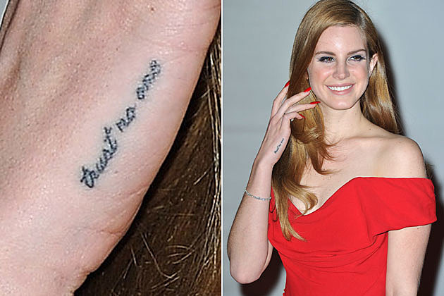 It's Lana Del Rey's Tattoo!