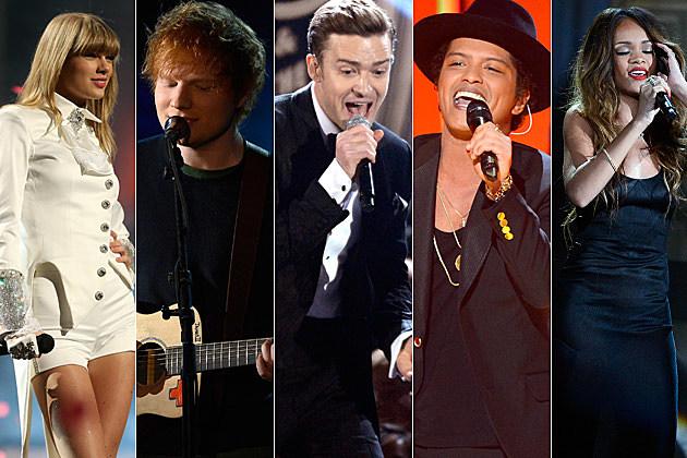 Taylor Swift Ed Sheeran Justin Timberlake Rihanna