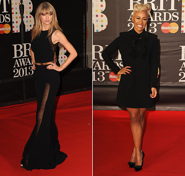 Taylor Swift Emeli Sande Brit Awards