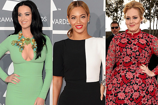 Katy Perry Beyonce Adele Grammys