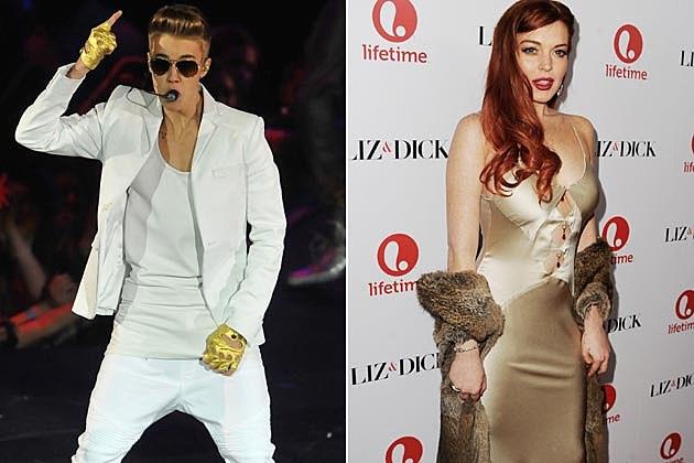 Justin Bieber Lindsay Lohan