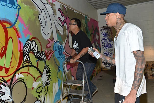 Chris Brown Slick Graffiti