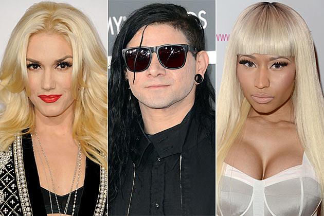 Gwen Stefani Skrillex Nicki Minaj