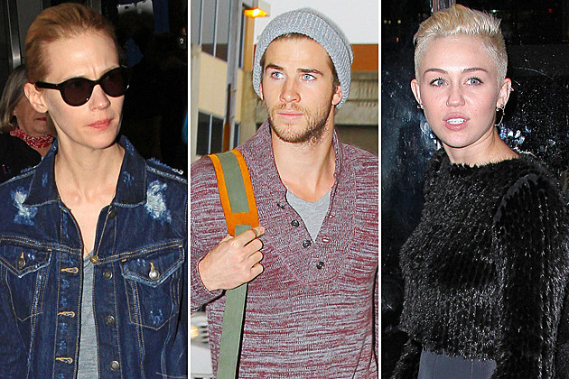 January Jones Liam Hemsworth Miley Cyrus