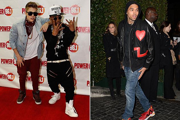 Justin Bieber Lil Twist Chris Brown