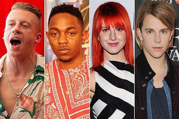 Macklemore Kendrick Lamar Paramore Tom Odell