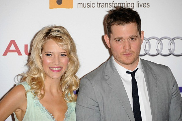 Michael Buble and Luisiana Lopilato