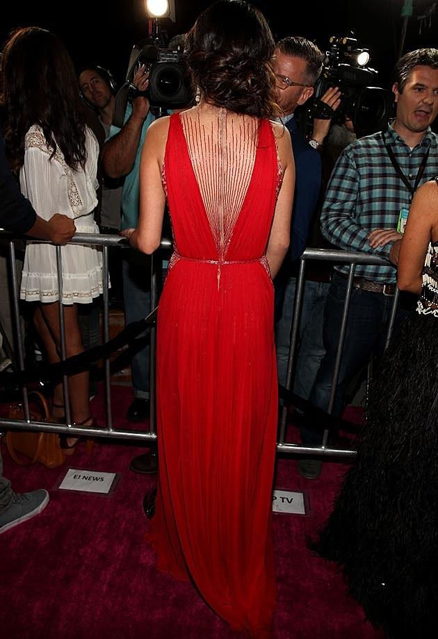 Selena Gomez Spring Breakers L.A. Premiere Reem Acra