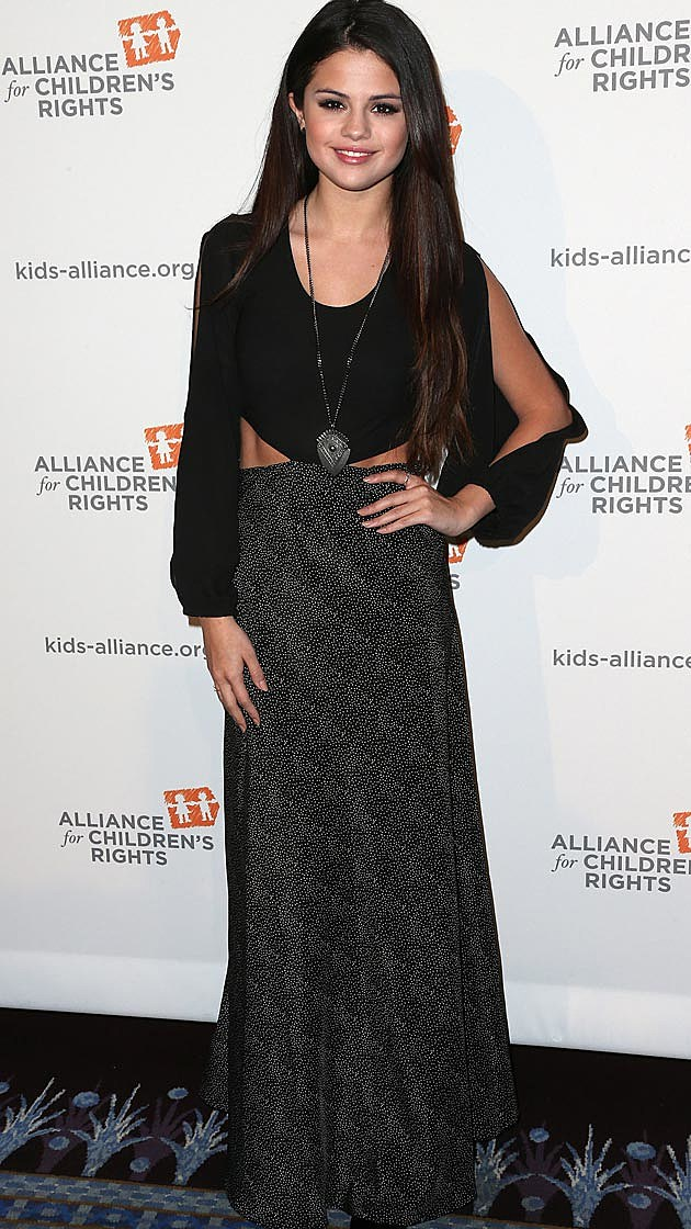 Selena Gomez Alliance for Children's Rights Dinner Lovers & Friends Dress