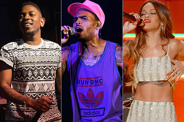 Kendrick Lamar Chris Brown Rihanna