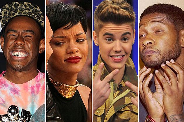 Tyler the Creator Rihanna Justin Bieber Usher