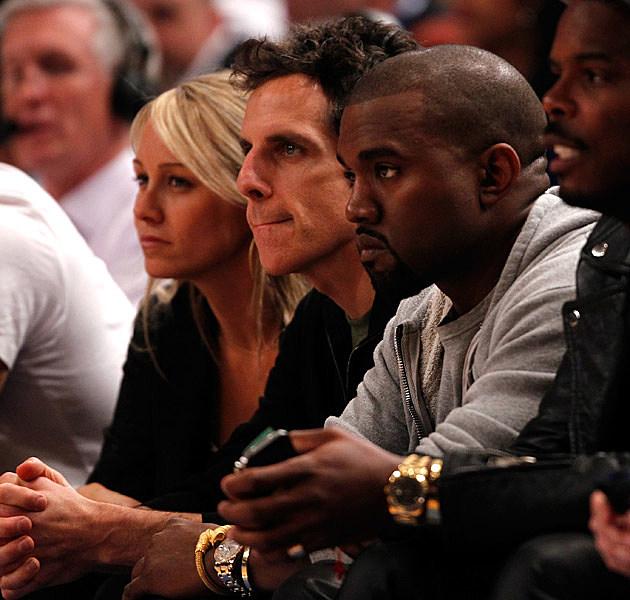 Christine Taylor Ben Stiller Kanye West