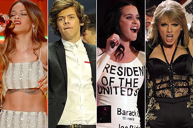 Rihanna Harry Styles Katy Perry Taylor Swift