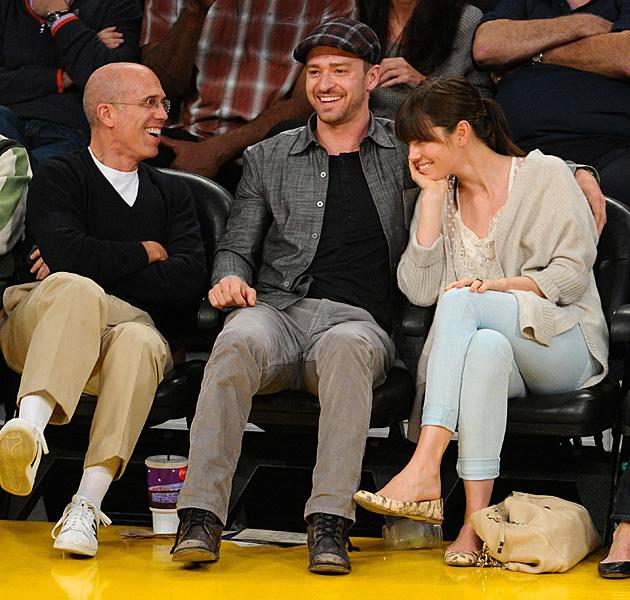 Jeffrey Katzenberg Justin Timberlake Jessica Biel