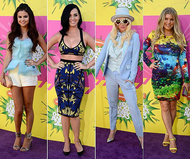 Selena Gomez Katy Perry Kesha Fergie Kids Choice Awards